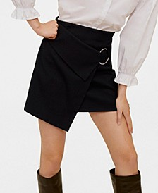 Round Buckle Mini Skirt