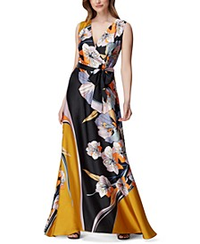 Graphic-Floral Gown