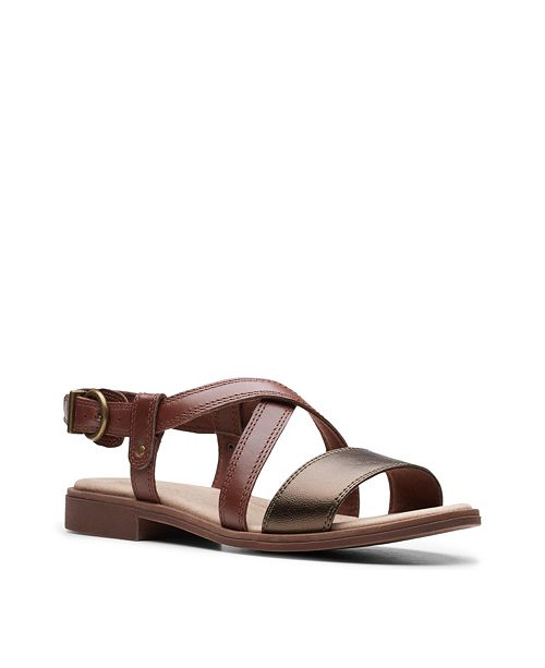 Clarks Collection Women's Declan Spring Flat Sandals