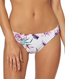 Floral-Print Hipster Bikini Bottoms