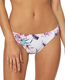 Jessica Simpson Floral-Print Hipster Bikini Bottoms