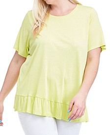 Plus Size Ruffle-Hem Top