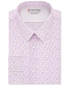 Men's Extra-Slim Fit Temperature-Regulating Performance Stretch Abstract-Print Dress Shirt