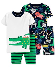 Toddler Boys 4-Pc. Jungle-Print Cotton Pajamas Set