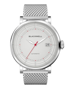 Gray Dial with Silver Tone Steel and Silver Tone Steel Mesh Watch 44 mm