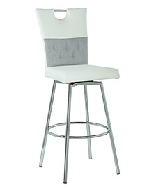 Valerie 2-Tone Handle Back Swivel Barstool