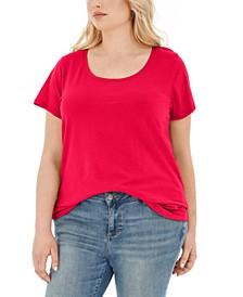 Trendy Plus Size Scoop-Neck T-Shirt