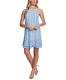 Ruffled Gingham-Plaid Dress