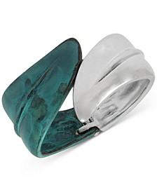 Leaf Bypass Bangle Bracelet