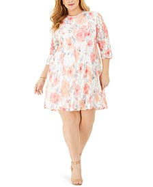 Plus Size Lace Floral Dress