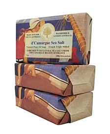 French Sea Salt Soap with Pack of 3, Each 7 oz