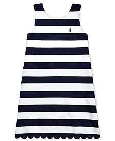 Big Girls Striped Stretch Ponté Knit Dress