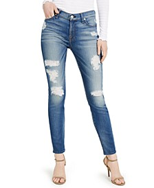 Skinny Ankle Destruction Jeans