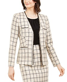 Tweed Braided-Trim Jacket