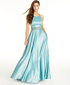 Juniors' Embellished Ball Gown