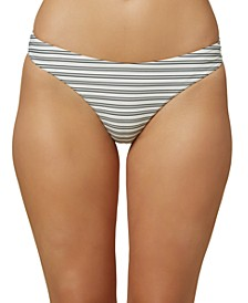 Juniors' Raven Stripe Bikini Bottoms, Created for Macy's