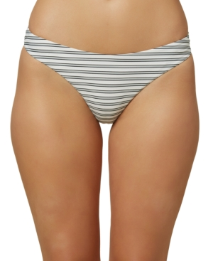 O'neill Juniors' Raven Stripe Bikini Bottoms, Created For Macy's Women's Swimsuit In Multi