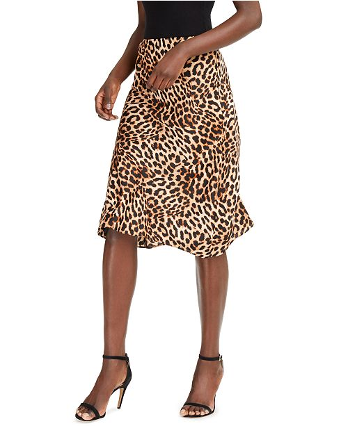 INC International Concepts INC Leopard Midi Skirt, Created for Macy's