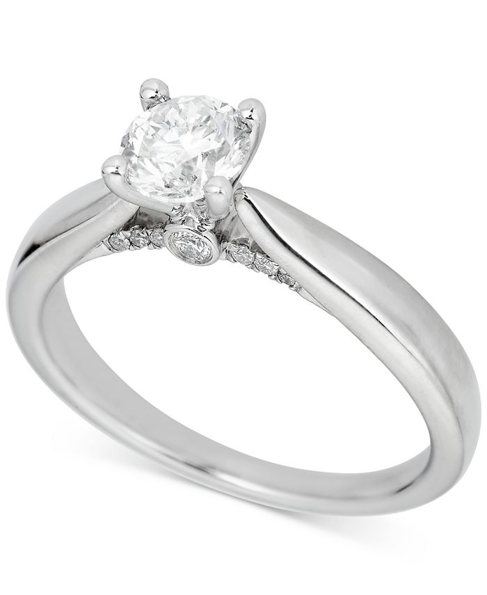 Macy's - Diamond Engagement Ring (3/4 ct. t.w.) in Platinum