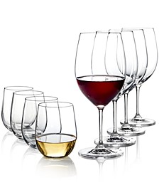Vinum Cabernet and O Chardonnay Wine Glasses 8 Piece Value Set