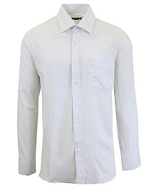 Men's Long Sleeve Solid Dress Shirt