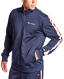 Champion Men's Logo-Stripe Track Jacket