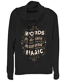 Harry Potter Dumbledore Words Are Magic Quote Cowl Neck Women's Pullover Fleece
