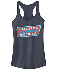DC Justice League Of America Text Logo Women's Racerback Tank