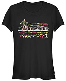Elf Buddy's Journey Through The Candy Cane Forest Women's Short Sleeve T-Shirt