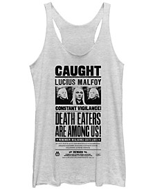 Harry Potter Lucius Malfoy Death Eaters Caught Poster Tri-Blend Women's Racerback Tank