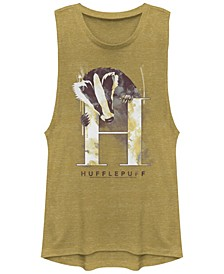 Harry Potter Hufflepuff Mystic Wash Badger Women's Sleeveless T-Shirt