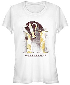 Harry Potter Hufflepuff Mystic Wash Badger Women's Short Sleeve T-Shirt