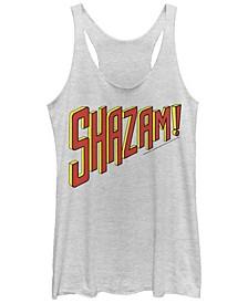 DC Shazam Text Logo Women's Racerback Tank
