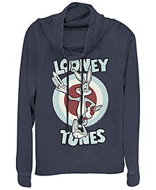 Looney Tunes Bugs Bunny Target Cowl Neck Women's Pullover Fleece