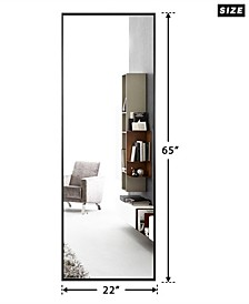 Aluminum Alloy Thin Frame Full Length Floor Mirror Hanging or Leaning