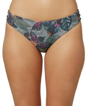 O'neill Juniors' Sandrine Printed Strappy-side Bikini Bottoms Women's Swimsuit In Multi