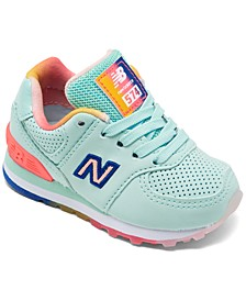 Toddler Girls' 574 Rainbow Casual Sneakers from Finish Line