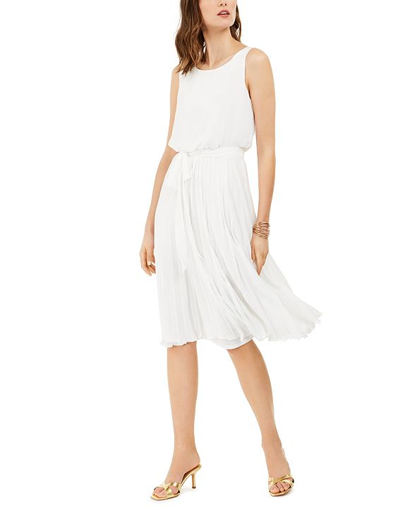 INC International Concepts INC Pleated Midi Dress, Created for Macy's