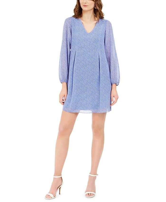 INC International Concepts - Bow-Back Dot-Print Shift Dress