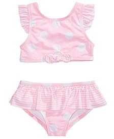 Toddler & Little Girls 2-Pc. Dot-Print Tankini