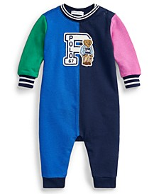 Baby Boys Polo Bear Cotton Terry Coverall