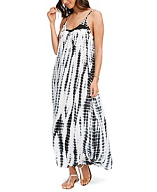 Tie-Dye Sleeveless Maxi Swim Cover-Up