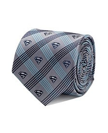Superman Plaid Men's Tie