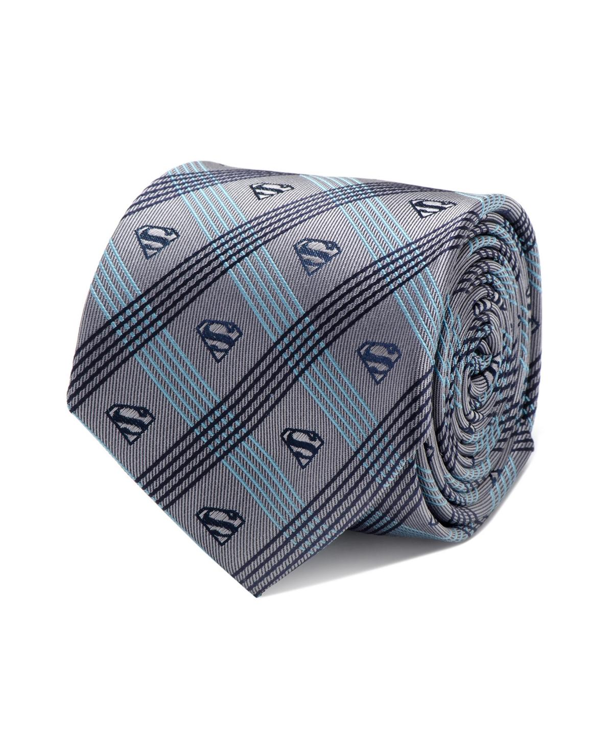 Dc Comics Superman Plaid Men's Tie