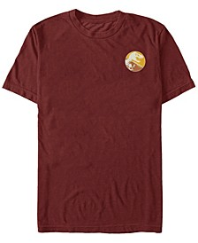 Jurassic Park Men's Split Colors T-Rex Logo Short Sleeve T-Shirt