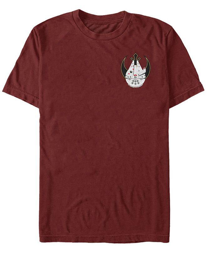 Fifth Sun Star Wars Men's Falcon Punch Badge Short Sleeve T-Shirt