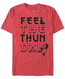 Kung Fu Panda Men's Po Feel The Thundah Short Sleeve T-Shirt