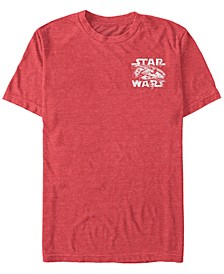Star Wars Men's Millennium Falcon Left Chest Logo Short Sleeve T-Shirt