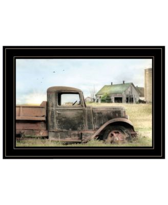 Vintage-Like Farm Trucks I by Lori Deiter, Ready to hang Framed Print, Black Frame, 15