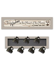 Trendy Decor 4u the Kitchen Vignette 2-piece Vignette With 7-peg Mug Rack by Millwork Engineering Collection